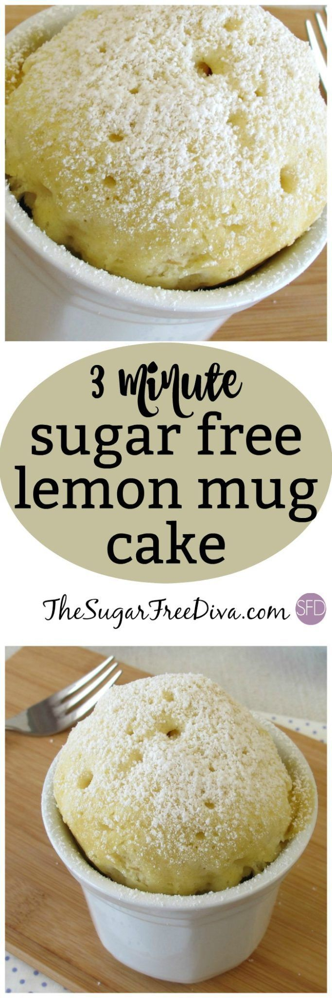 YUM! This lemon mug cake is sugar free and easy to make too! #sugarfree #cake #easy #recipe #lemon #mugcake via #sugarfree #lowcarb #dessert