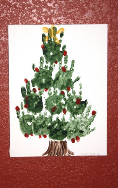 Joy: Christmas Handprint Art