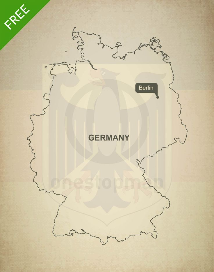 Free Vector Map of Germany Outline 65