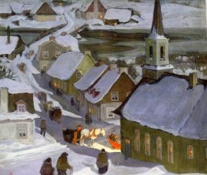 Midnight Mass - Clarence Gagnon - The Athenaeum