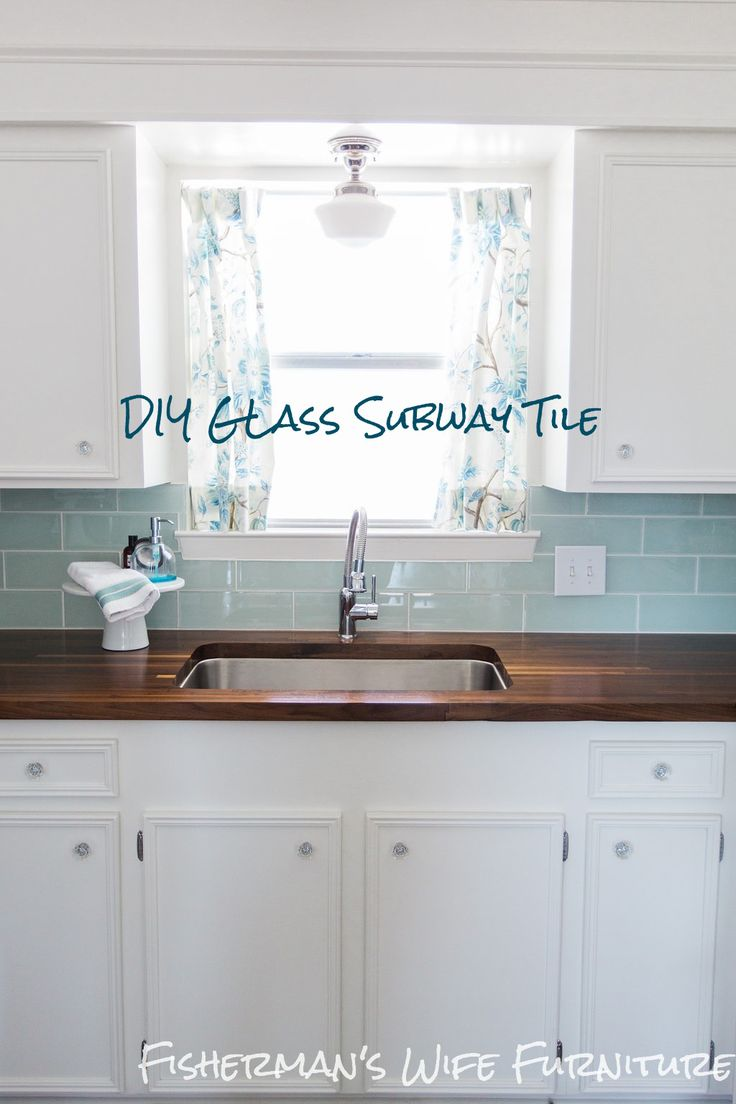 DIY Glass Tile Backsplash - How to cut and install glass subway tile