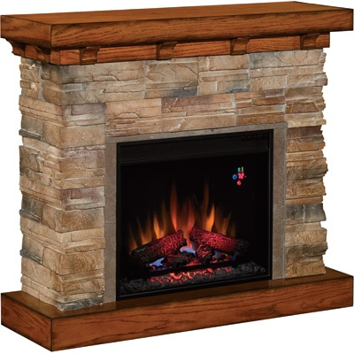 Classic Flame Vent-Free Flagstone Electric Fireplace — 4600 BTU, Model# 23WM912-S118