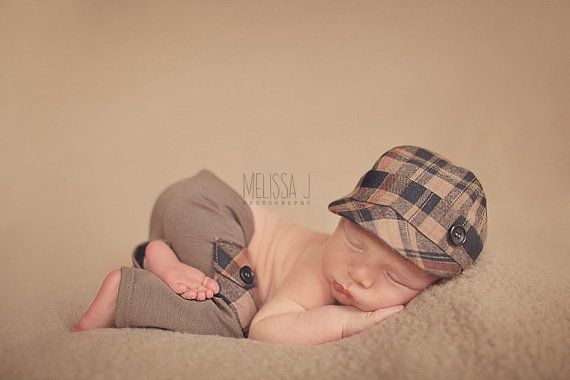 newborn boy HAT & PANT set Anthony  photography by adorableprops, $66.00