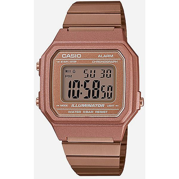 Casio Vintage Collection B650wc-5A Watch ($60) ❤ liked on Polyvore featuring men's fashion, men's jewelry, men's watches, mens digital watches, casio mens watches and mens water resistant watches