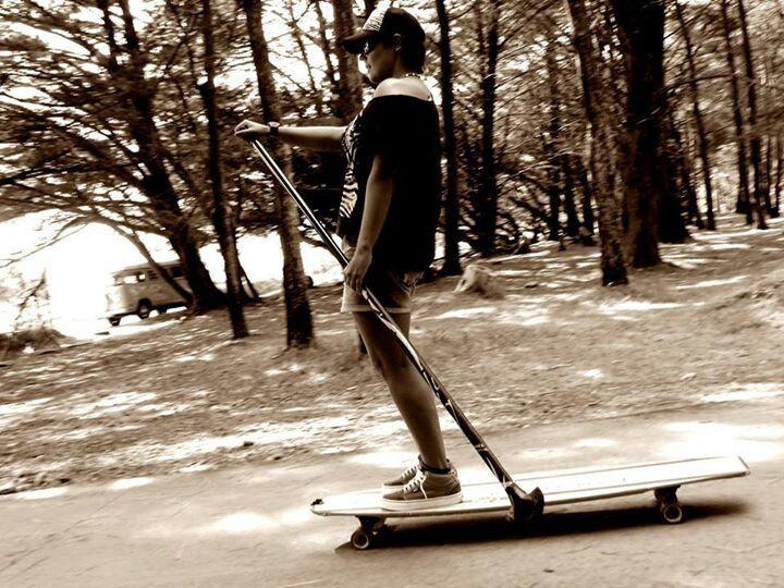 Longboard -  I want the push paddle :)