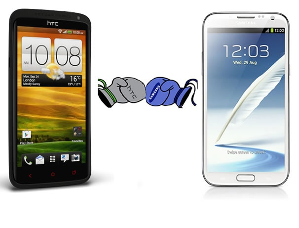 Samsung Galaxy Note 2 vs HTC One X