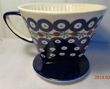 Kaffeefilter aus Keramik, passend für Papierfiltergröße 4, traditionelles Dekor