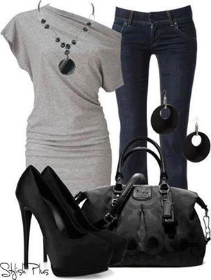 clothes. black and gray Love the top most of all