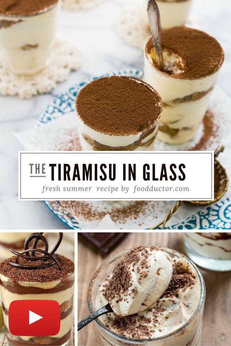 Individual Mini Tiramisu - make your own single serving mini tiramisu for an elegant dessert. These would look great in a margarita glass.  VIDEO