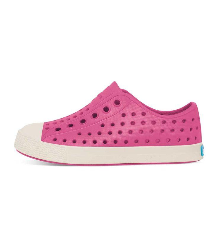 Native Jefferson Hollywood Pink/Bone White, Kids Footwear, www.oishi-m.com