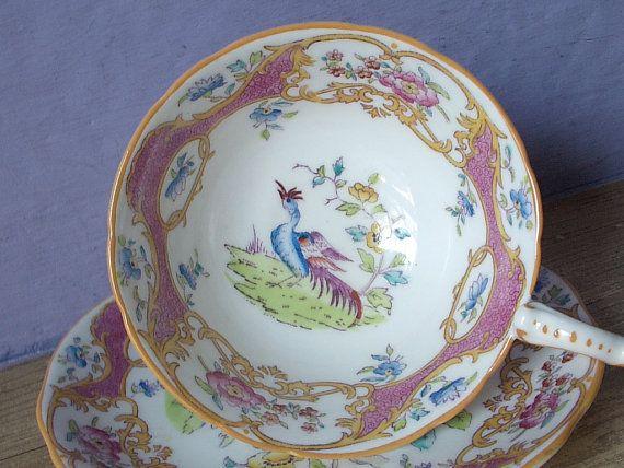 Antique Victorian tea cup set vintage Coalport by ShoponSherman,