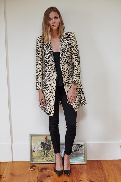 Emerson Fry Wingtip Coat - Leopard