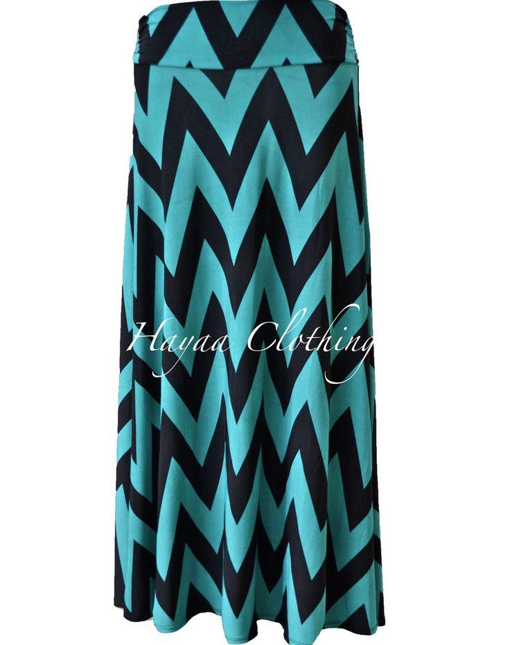 Hayaa Clothing - High-Waisted Chevron Stripe Long Skirt - Dark Teal, $19.99 .. On Sale (http://www.hayaaclothing.com/high-waisted-chevron-stripe-long-skirt-dark-teal/)