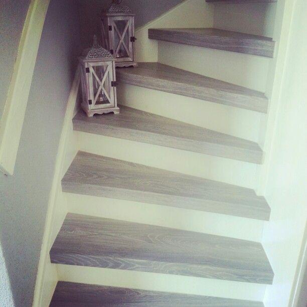 Onze trap gemaakt met de trap renovatie van cando trap pinterest met - Renovatie houten trap ...