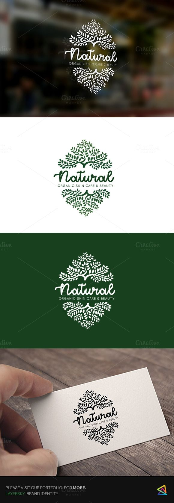 Natural Organic Logo by Super Pig Shop on @creativemarket