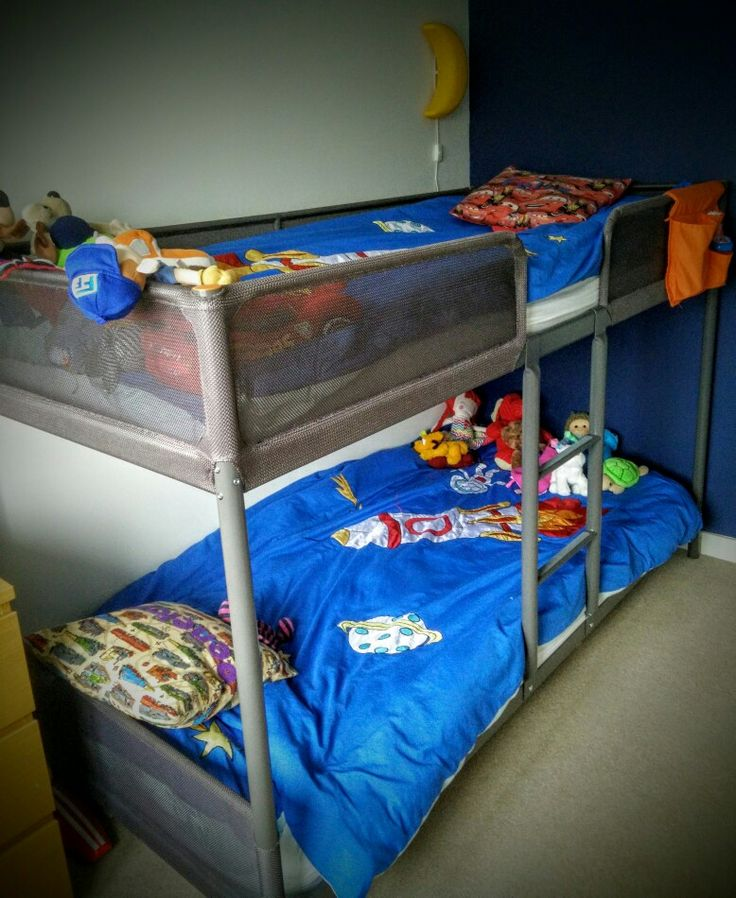 Ikea Tuffing Bed For 1 And 4 Year Old In Space Themed