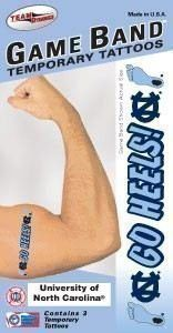 UNC Game Bands Temporary Tattoos