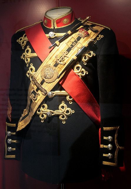 royal uniform - that sash across his chest could be steampunked.