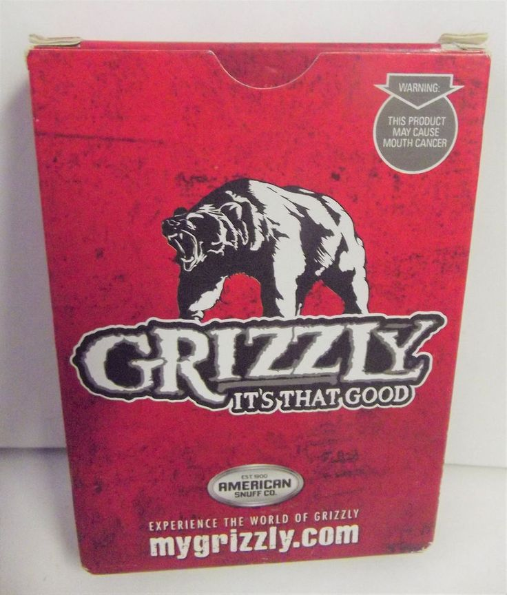 #Grizzly #Bear Snuff Tobacco Playing Cards NWOT #AmericanSnuffCo y