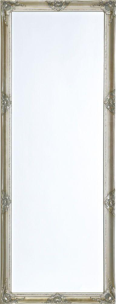 129,95 U20ac Wandspiegel Silber Barock Spiegel Chic 185 X 70 Mit  Facettenschliff Holzrahmen In