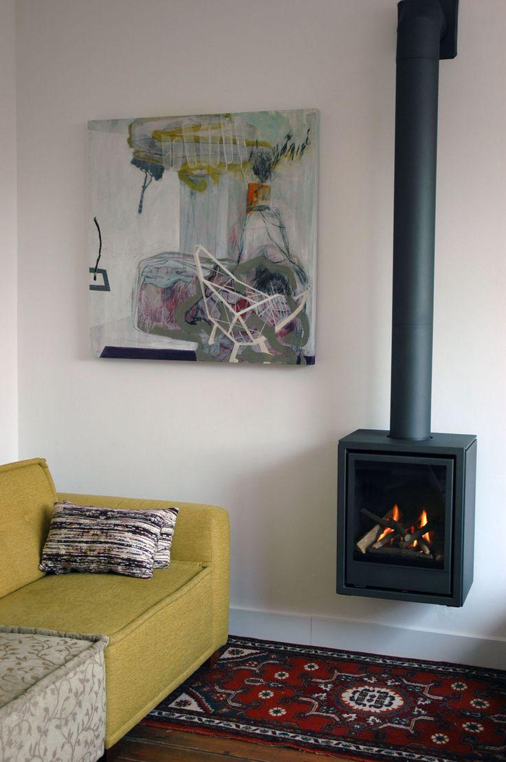 De wanders normal wall hangende gaskachel van fabrikant wandersfires bij een klant in neeritter - Haard thuis wereld ...