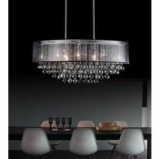 Oval 26 Inch Pendent Chandelier with Black Shade Home Depot $419.00