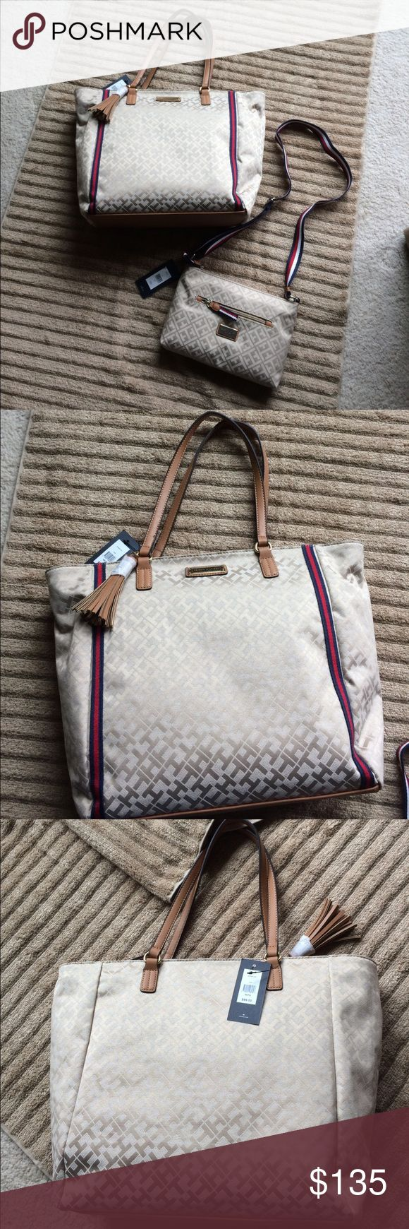 Selling this NWT TOMMY HILFIGER 👜's on Poshmark! My username is: kdelwiche. #shopmycloset #poshmark #fashion #shopping #style #forsale #Tommy Hilfiger #Handbags