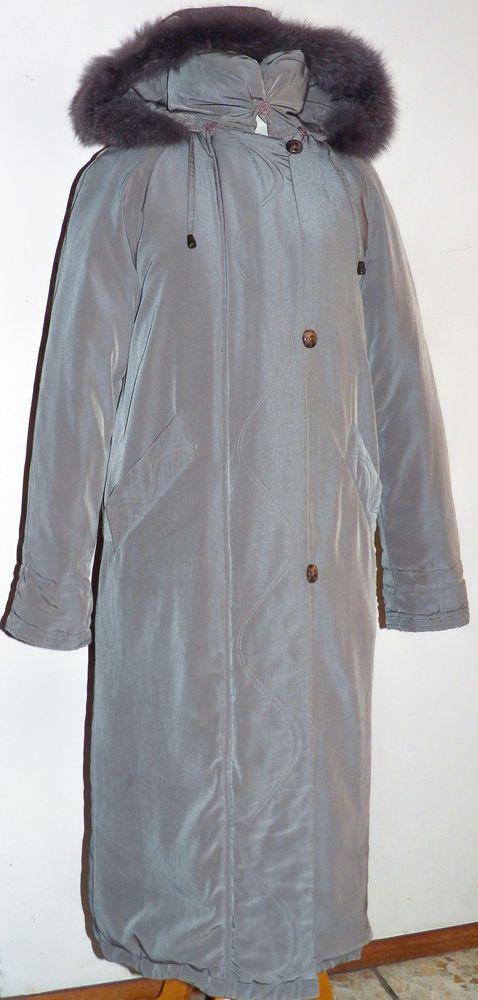 Utex Down Taupe Full Length Coat Jacket Genuine Fur Trimmed Hood Eaton Canada 6 #Utex #WinterDownJacket