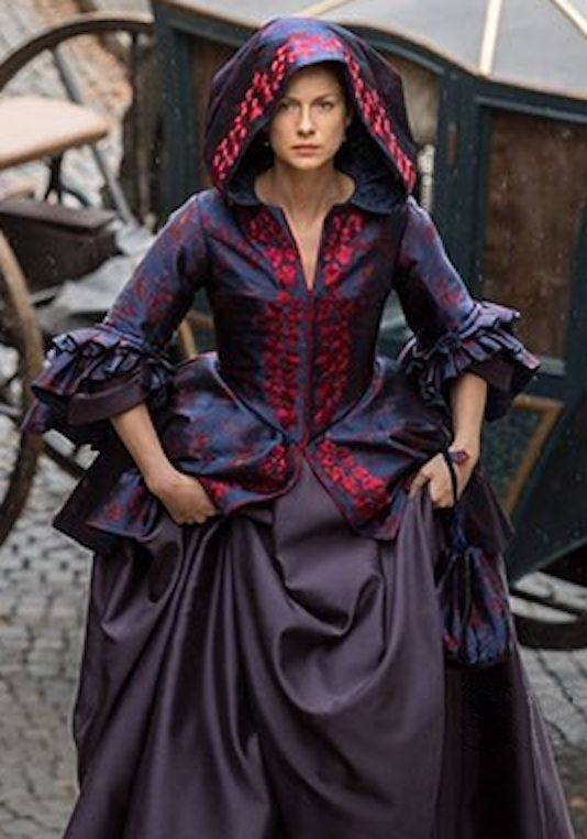 A look at one of Claire's amazing gowns for Season 2.