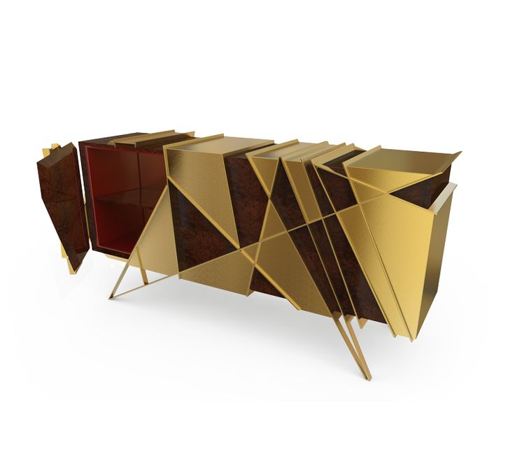 """A dynamic piece full of energy, that will be the best view in any home."" www.bateye.com #bateye #bateyecollection #bateyepieces #luxury #luxuryfurniture #sideboard"