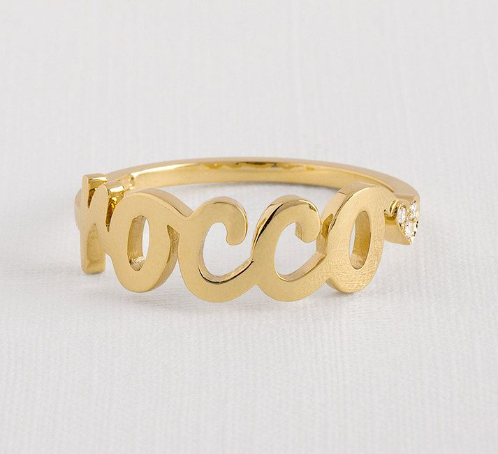 Personalized gold ring  Gold name ring  diamond name ring  personalized name ring  custom name ring  monogram ring gold  name ring Personalized gold Gold name ring diamond name ring personalized name custom name ring monogram ring gold name ring personalized jewelry gold initial ring new mom gift stackable name ring gold ring with name name on ring 370.00 USD #goriani