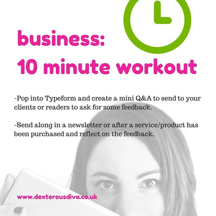 Create a mini Q&A using #Typeform. #divasdaily10 #10minuteworkout #business #mentor #success #yesyoucan #mindset #abundance #womeninbiz #bizcoach #tips www.dexterousdiva.co.uk