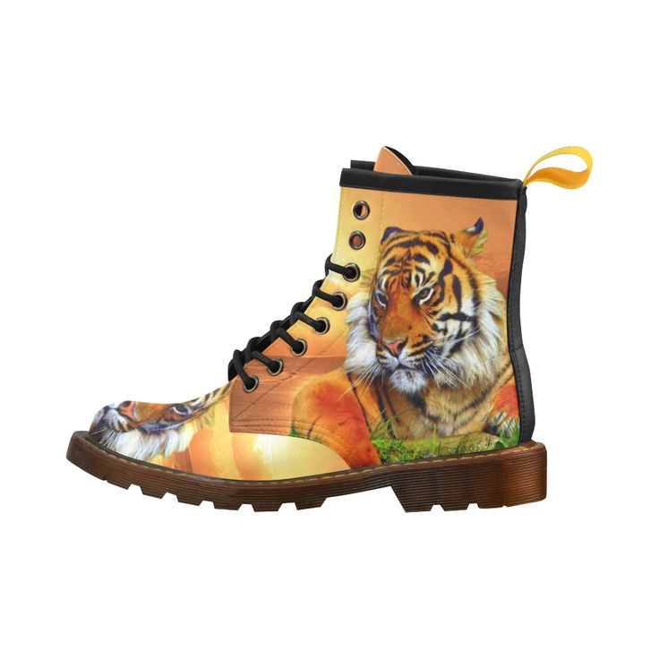 Sumatran Tiger Leather Martin Boots For Men #erikakaisersot #artsadd #boots