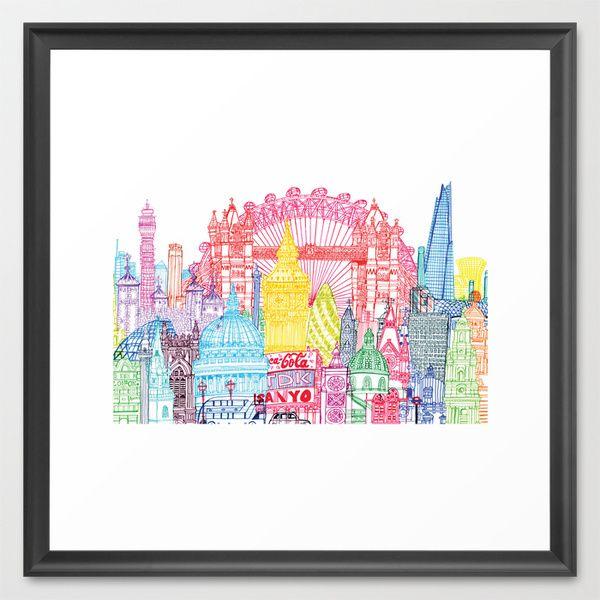 London Towers Framed Art Print