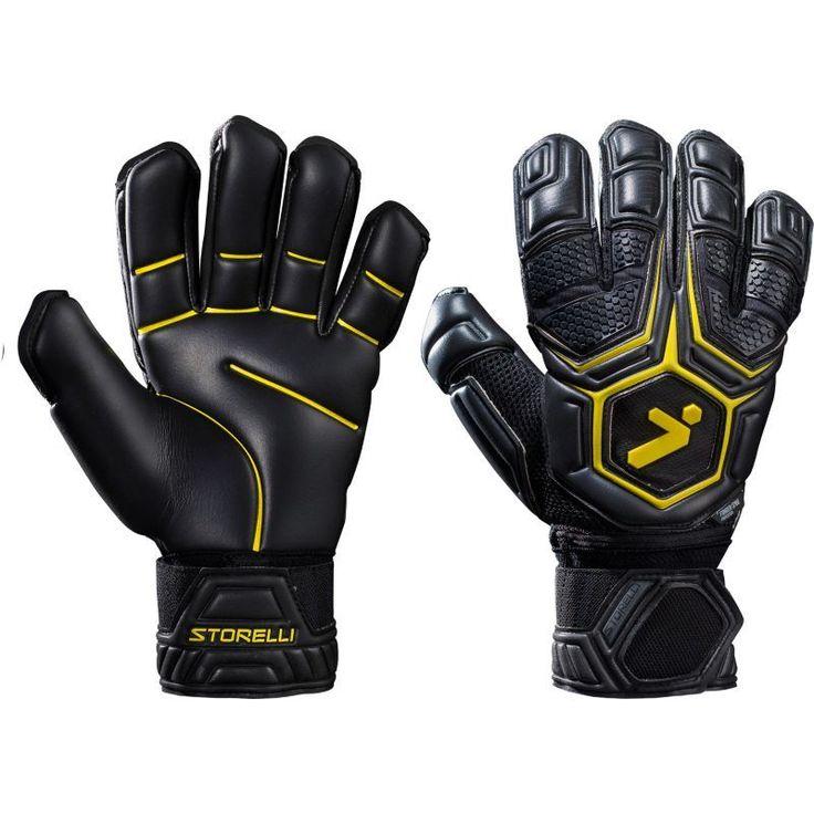 Storelli Sports GK Pro Soccer Goalkeeper Gloves, Black