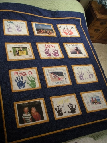 Picture Quilts, Photo Memory Quilts, Memory Quilts