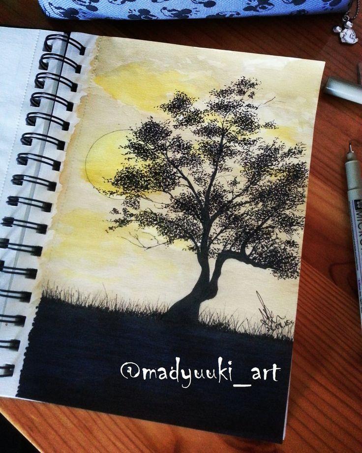 Sunset by @madyuuki_art https://instagram.com/madyuuki_art/ http://yuki-chan-xdxd.deviantart.com/