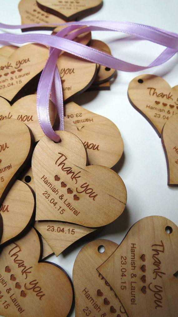 50 2 x 2 Herz Tags benutzerdefinierte Hochzeit Tags von GrainDeep