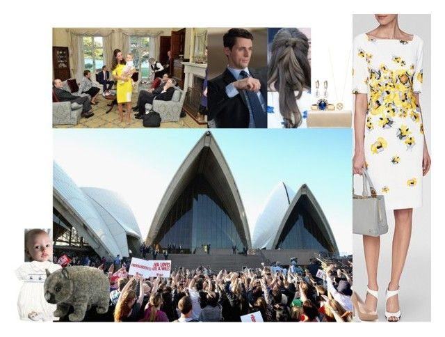 """Attending a reception at the Sydney Opera House and meeting the Governor-General of Australia, Sir Peter Cosgrove, at Admiralty House"" by lady-maud ❤ liked on Polyvore featuring Elsa Peretti, Annoushka, L.K.Bennett, Russell & Bromley and Hansa"