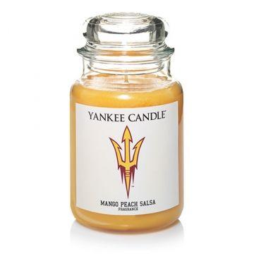 arizona state university mango peach salsa large jar candle