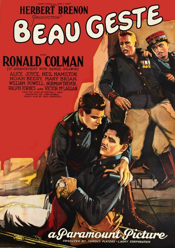 Silver Scenes - A Blog for Classic Film Lovers: Beau Geste ( 1926 )