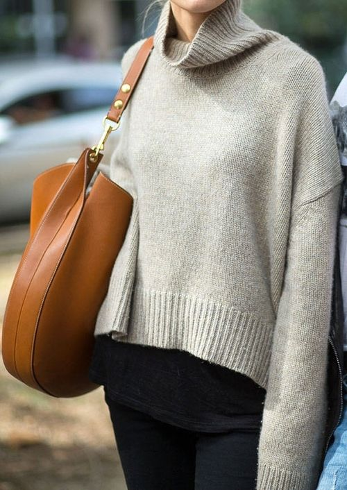 sweater + celine bag