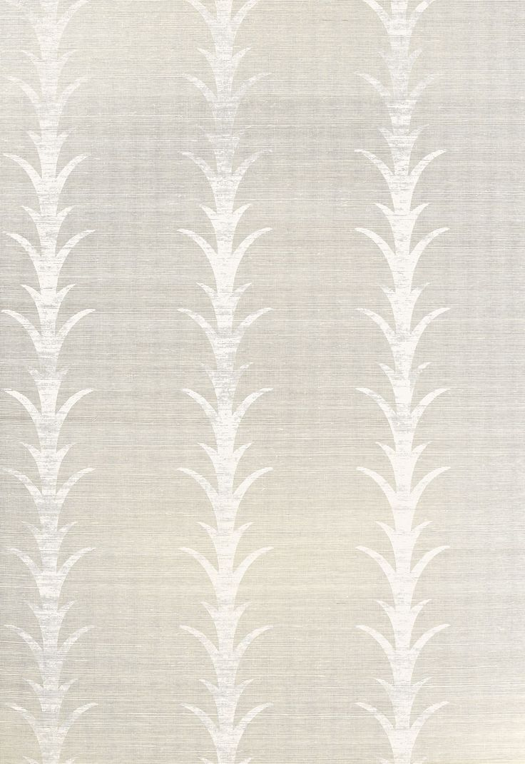 Another stellar pattern designed by Celerie Kemble for Schumacher. featuring acanthus leaves printed on a grasscloth back This wallcovering is going to look fantastic in any formal space, especially a