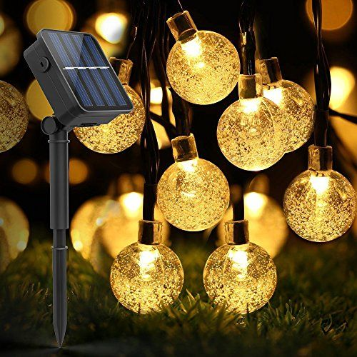 Globe Outdoor Solar String Lights, LDesign 20 Feet 30LED Fairy Bubble  Crystal Ball Lights Decorative