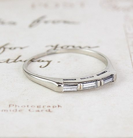 You Are Going To Buy This Yes Or No Vintage Jewelry Baguette Wedding Bandswedding