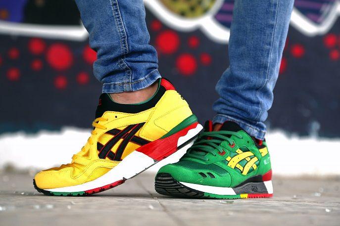 ... black  asics gel lyte v energy yellow  plataforma sneakers vol. ... 7b767af44