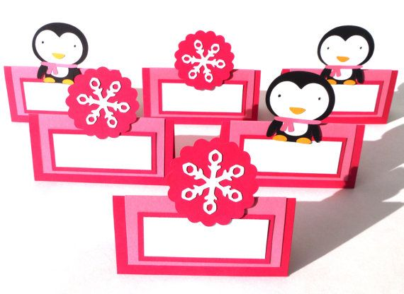 Winter Penguin and Pink Snowflake Themed 6 by ScrapsToRemember
