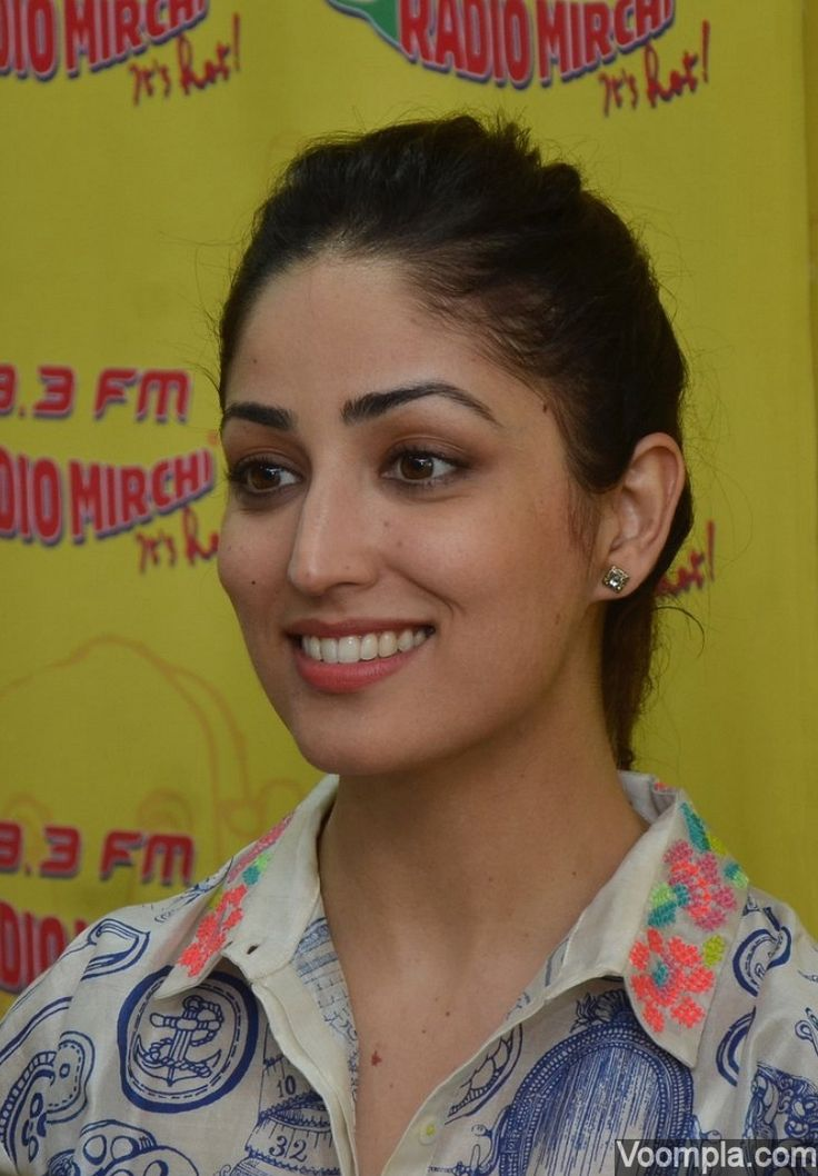 Smiling beauty Yami Gautam at a radio interview.. Click Here >> Voompla.com