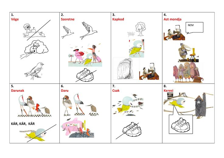 A cinege cipője c. vers vizuális megerősítése