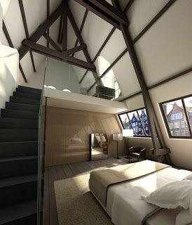 slaapkamer met balken - Google zoeken